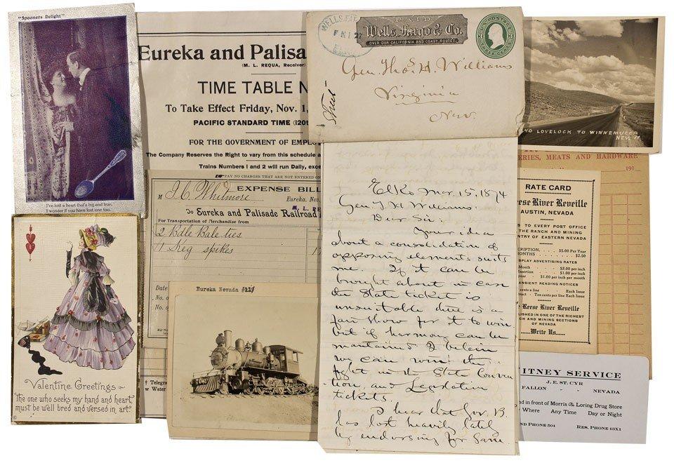 908: NV - Nevada, Northern Postal History and Ephemera