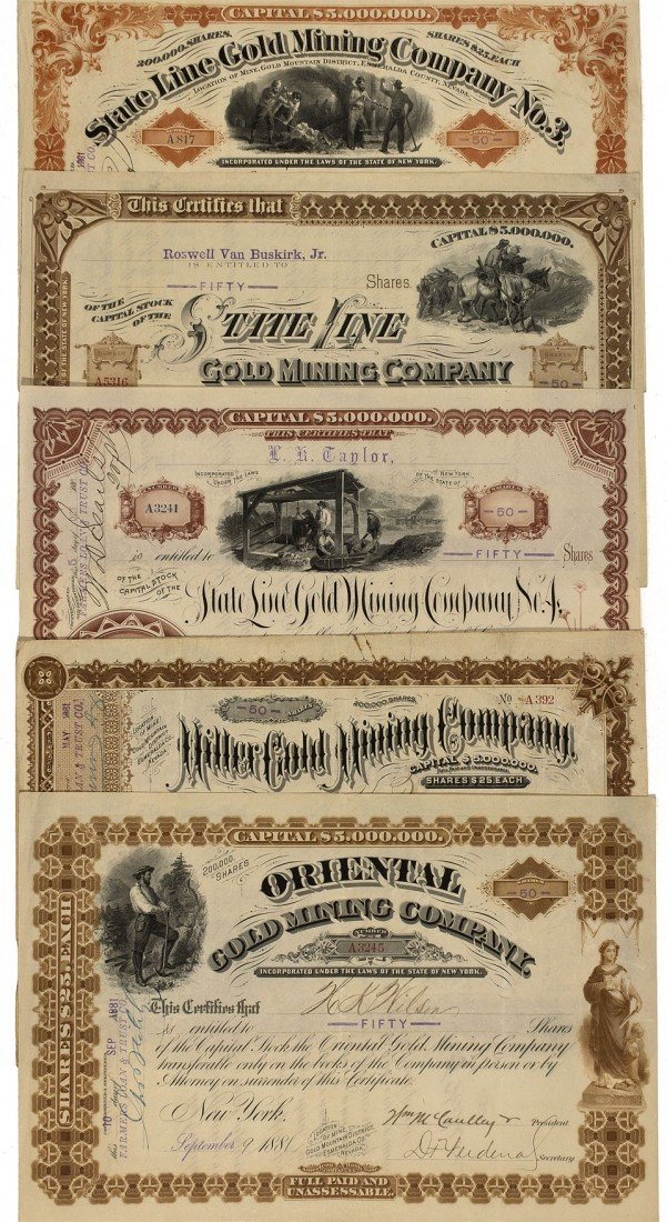 914: NV - Gold Mountain County - 1881-1882 - State Line