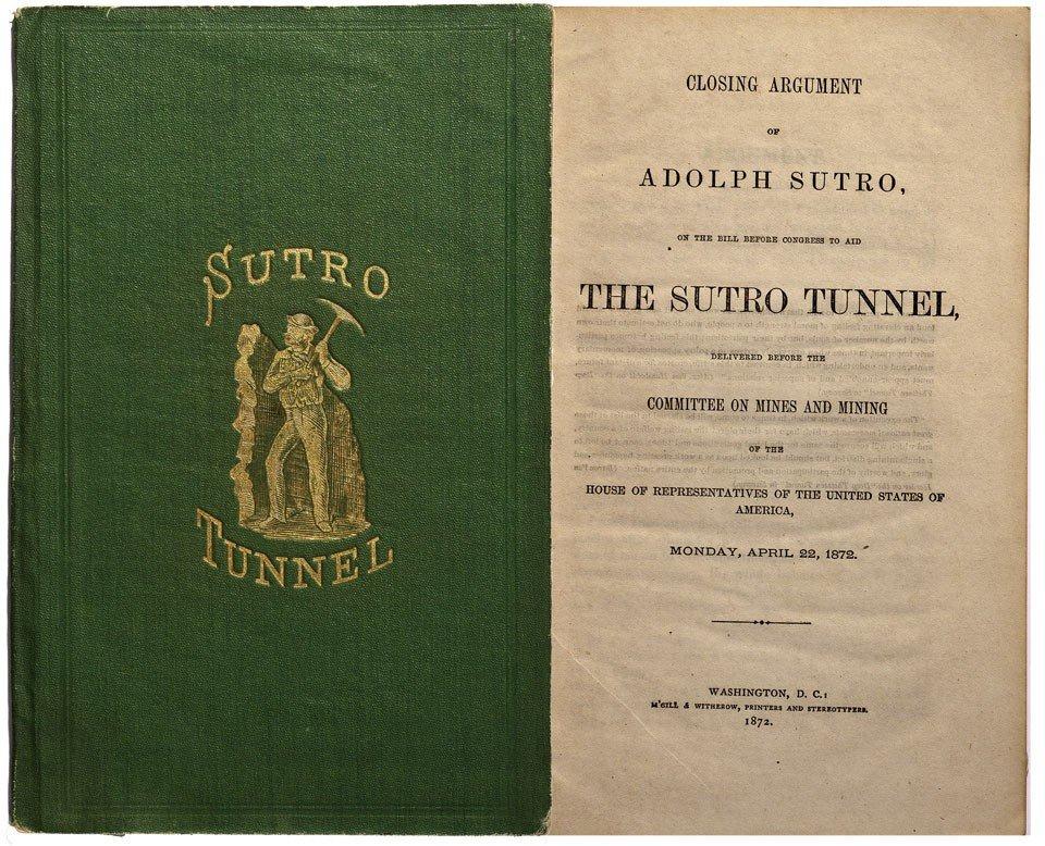 915: NV - 1872 - Sutro Tunnel Book