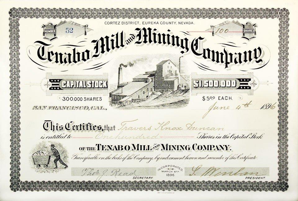 916: NV - Tenabo County - 1896 - Tenabo Mill and Mining