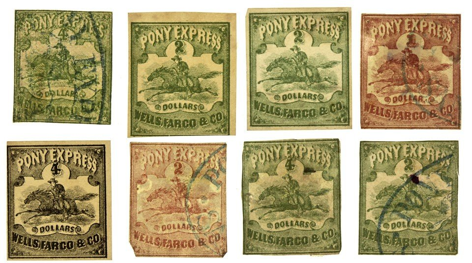 1139: NV - Comstock,1861 - Pony Express Stamps