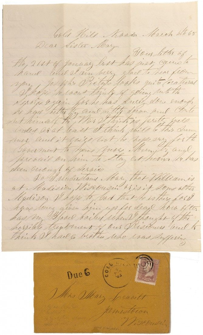 NV - Gold Hill,Storey County - 1865 - Early Gold