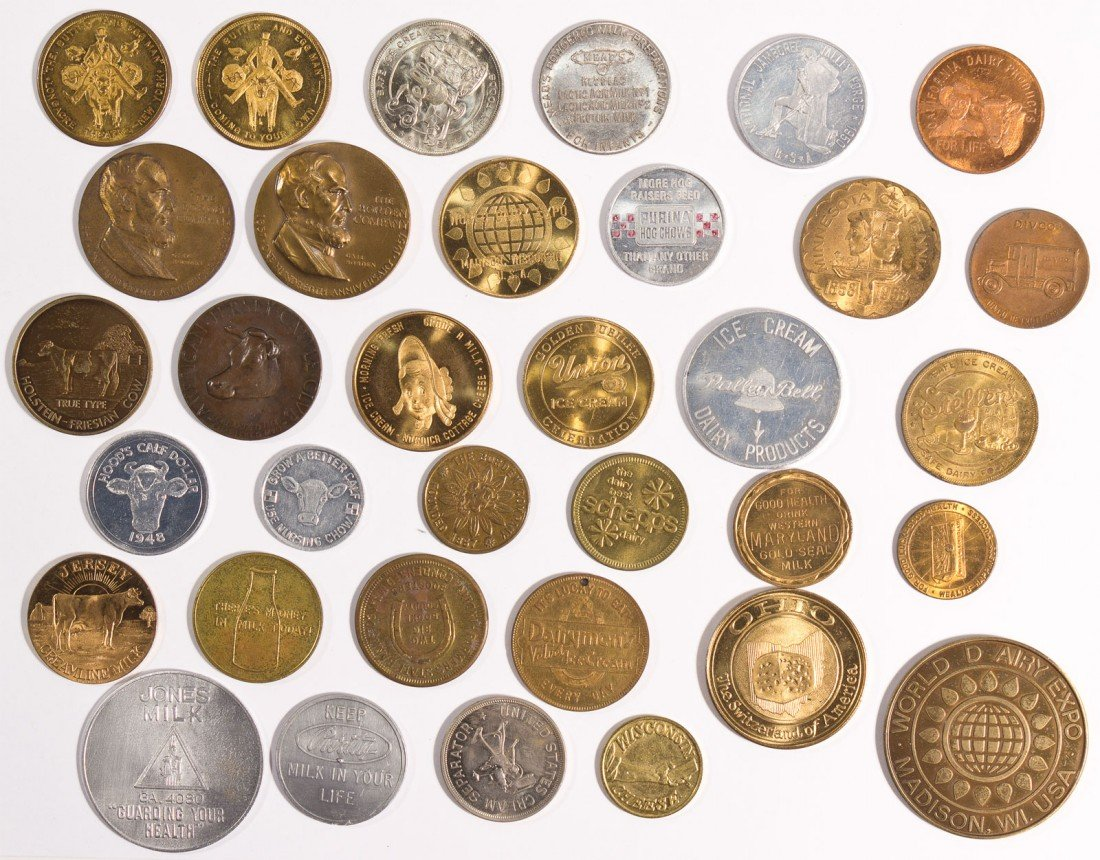 Miscellaneous Dairy Tokens & Medals