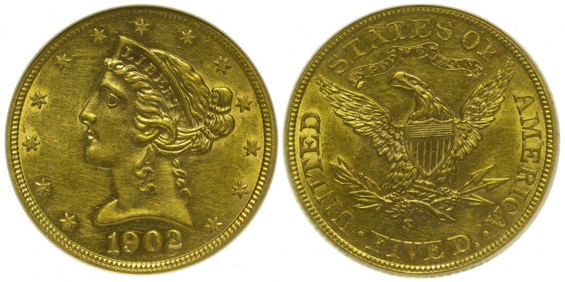 5 Dollar US Mint Gold Coin