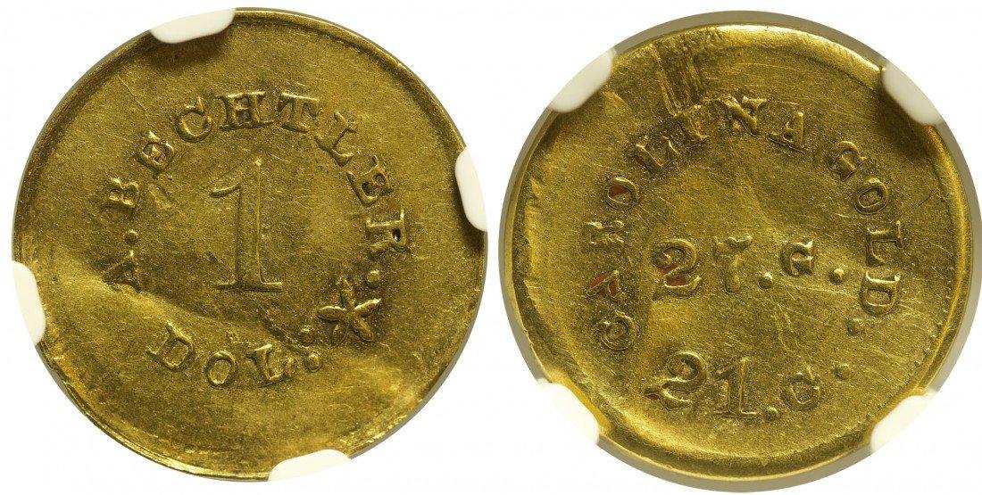 A. Bechtler Gold Dollar Coin