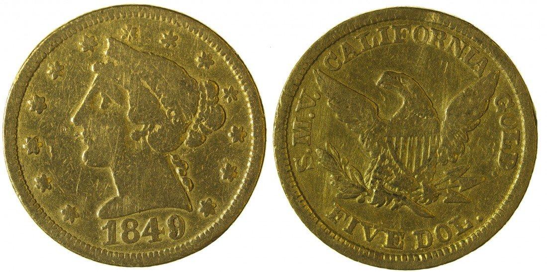 Moffat & Company $5 Gold Piece