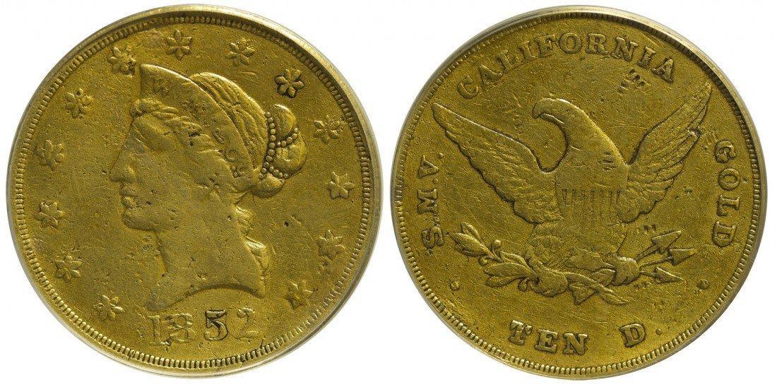 Wass Molitor Small Head Ten Dollar Gold Coin