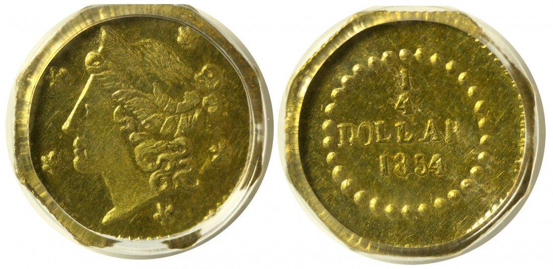 California Fractional Gold BG 105 25C Octagonal Liberty