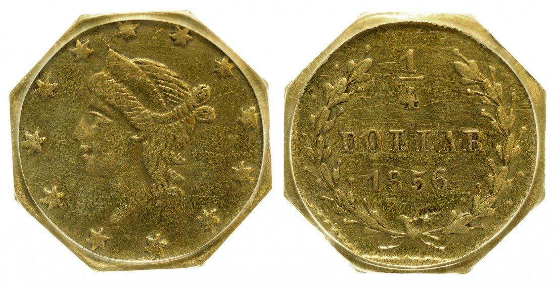 California Fractional Gold BG 111 25C Octagonal Liberty