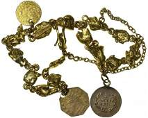 California Fractional Gold and Placer Nugget Bracelet