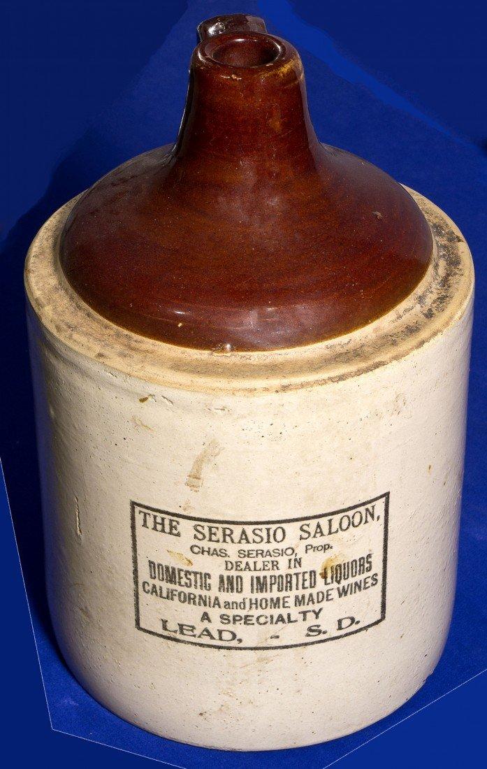 Serasio Saloon Stoneware Whiskey Jug