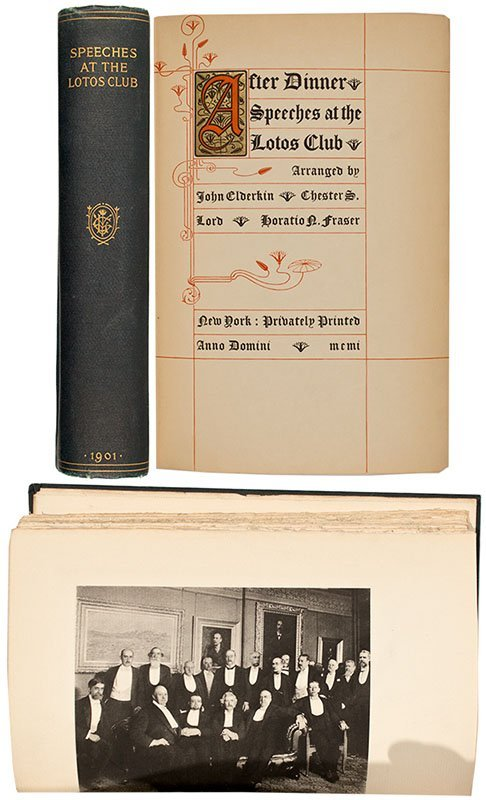 Twain's Speeches at the Lotos Club 1st Edition - New