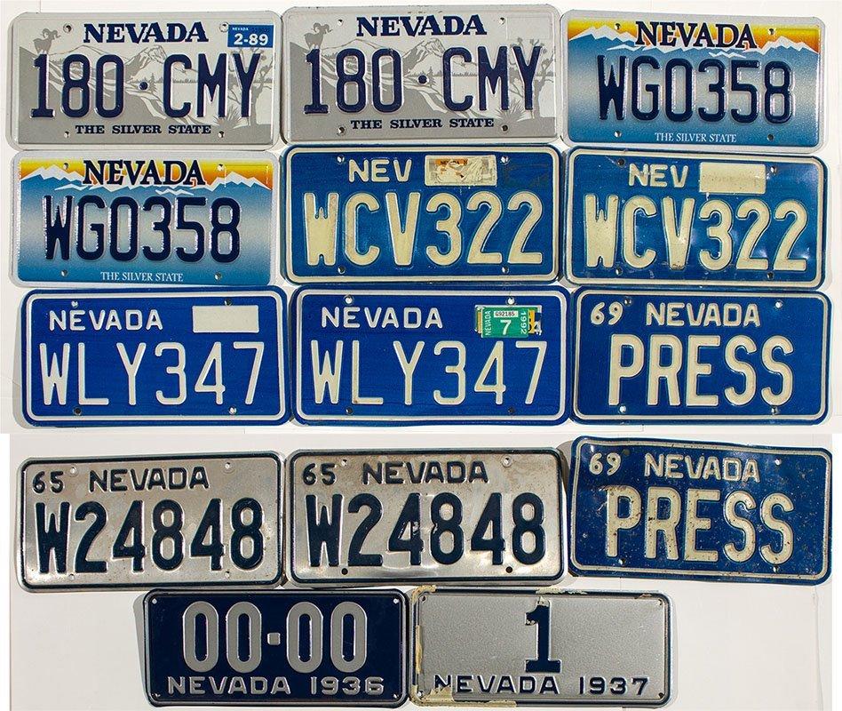 Reno Personalized License Plates Collection - Reno, NV