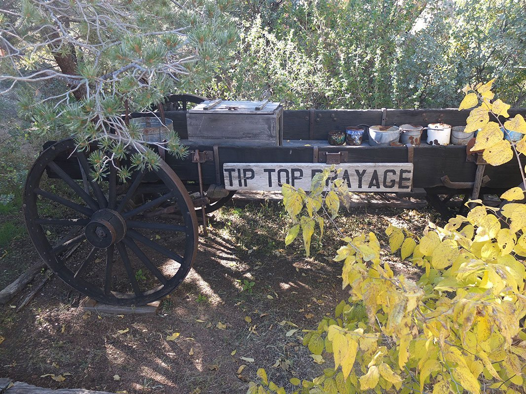 Tip Top Drayage Wagon and Artifacts -