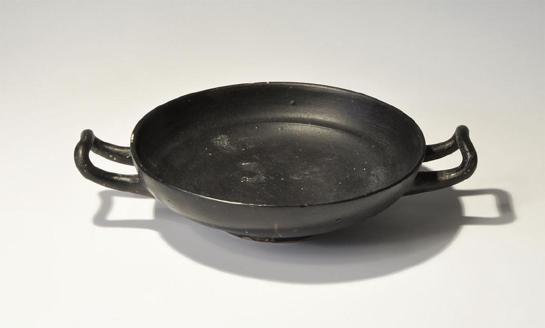 Greek Blackware Flat Kylix