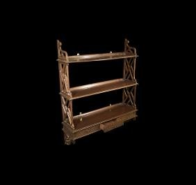 Antique Mahogany Wall Shelf Fitting