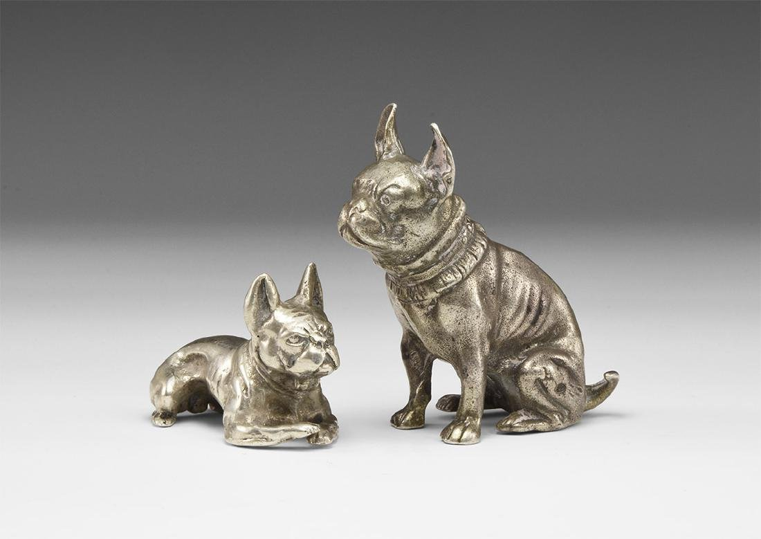 Vintage Tiffany and Another Dog Figure Group