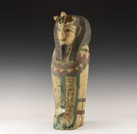 Egyptian Style Polychrome Sarcophagus