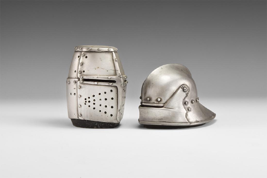 Vintage Medieval Helmet Paperweight Group