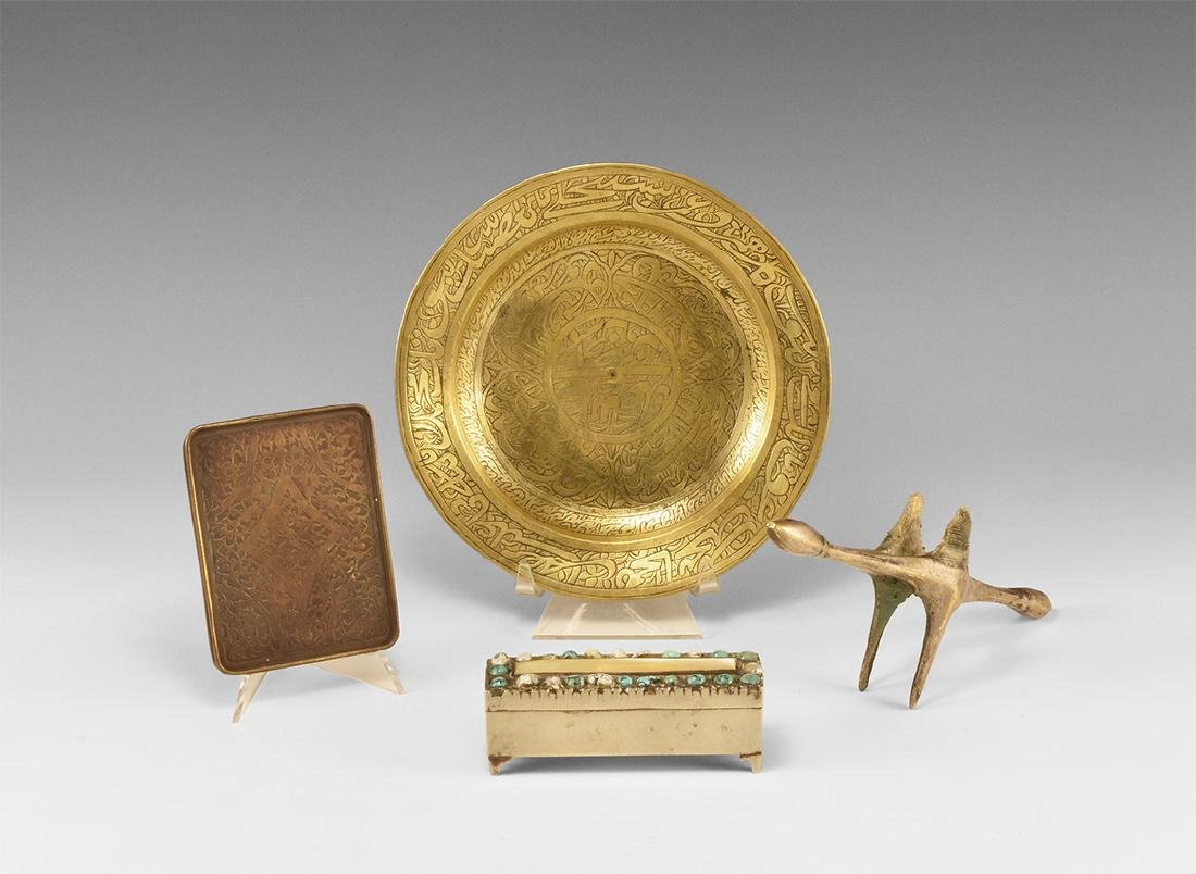 Islamic Box, Dish, Buckle and Quillon Group