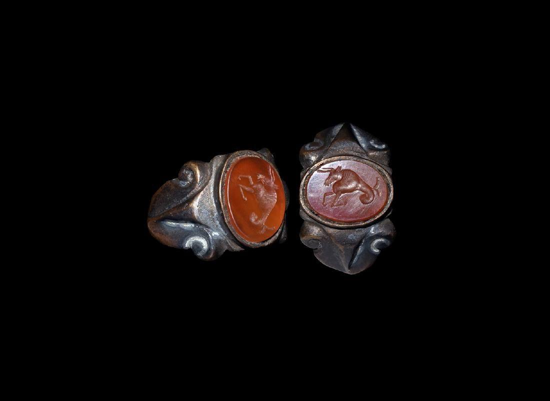 Roman Style Ring with Capricorn Intaglio