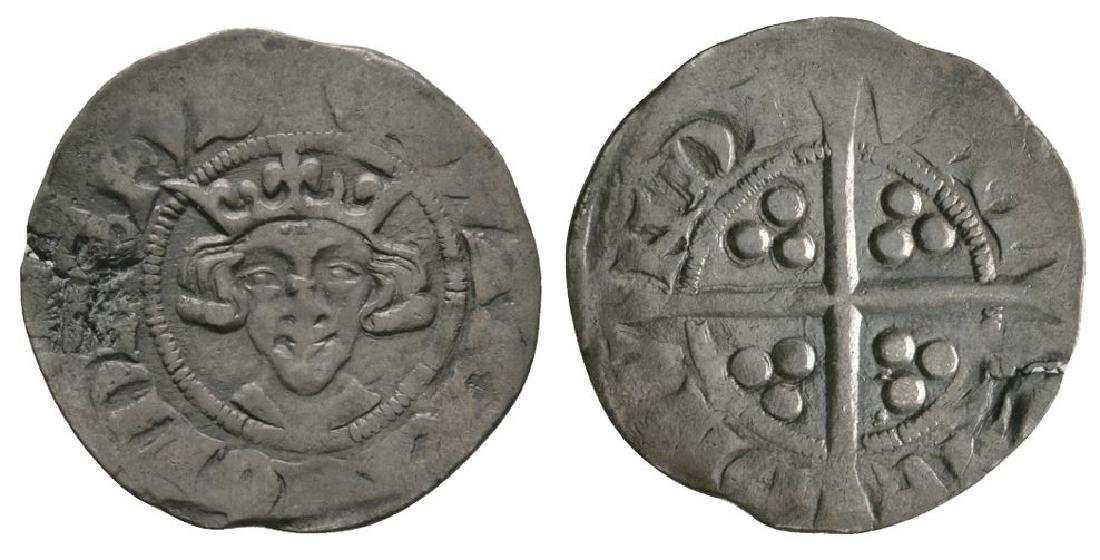 English Coins - Edward II - Long Cross Penny
