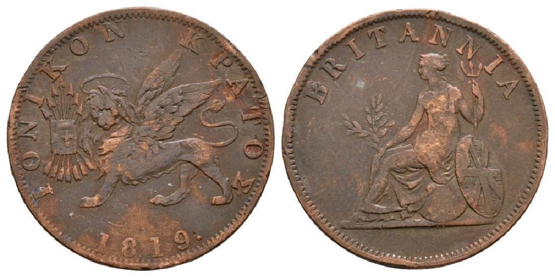World Coins Ionian Islands - 1819 - Obol