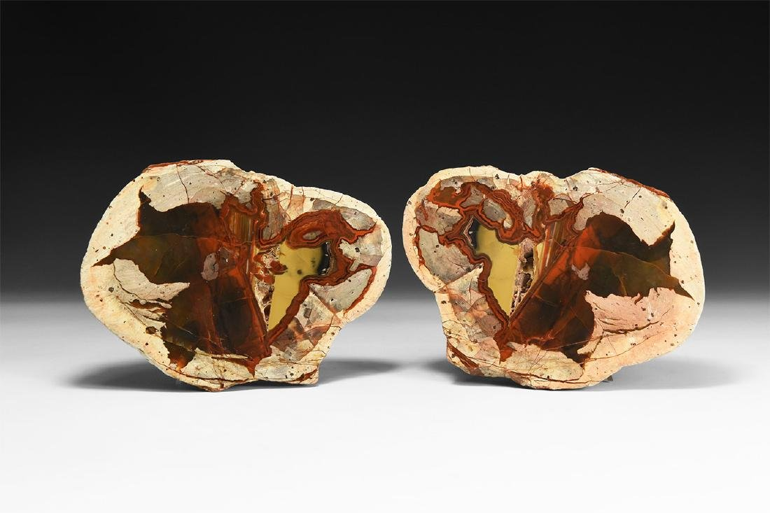 Australian Agate Creek Cut 'Thunder Egg' Pair