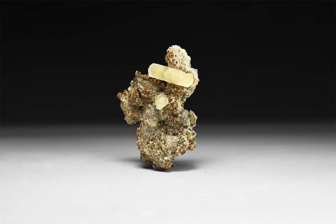 Calcite, Chalcopyrite and Galena Mineral Spec.