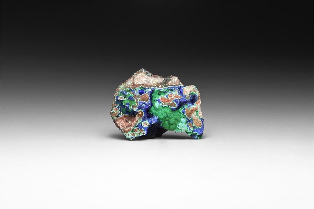 Nth American Malachite on Azurite Mineral Spec.