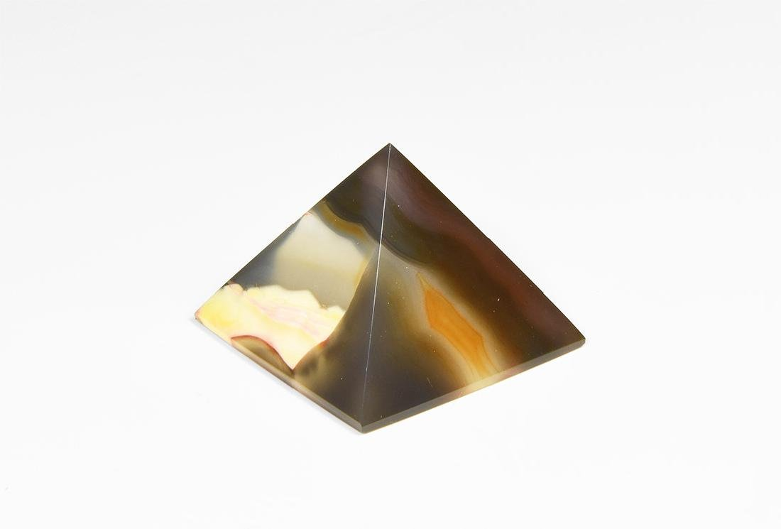 Polished Agate Pyramid.