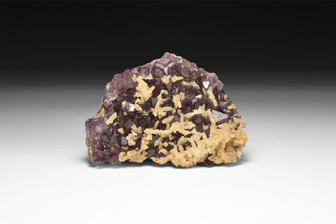 Amethyst with Calcite Mineral Specimen.