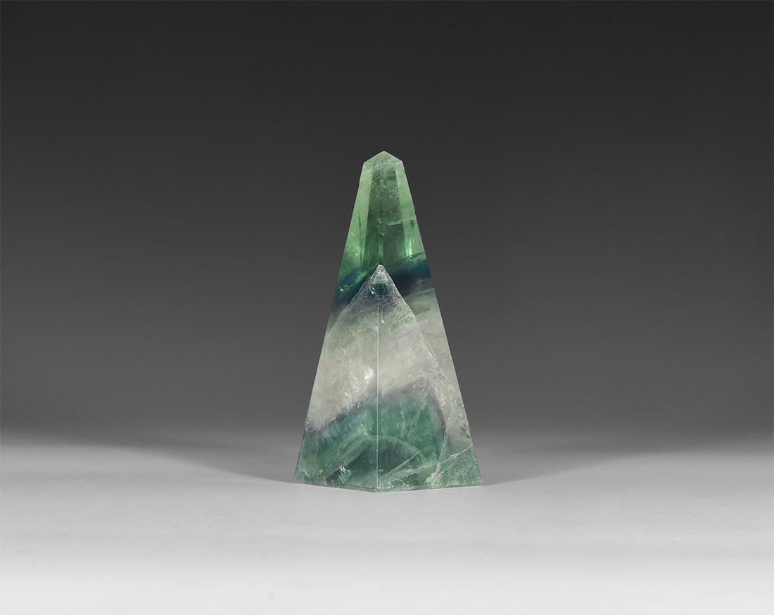 Natural History Large Fluorite Crystal Obelisk.