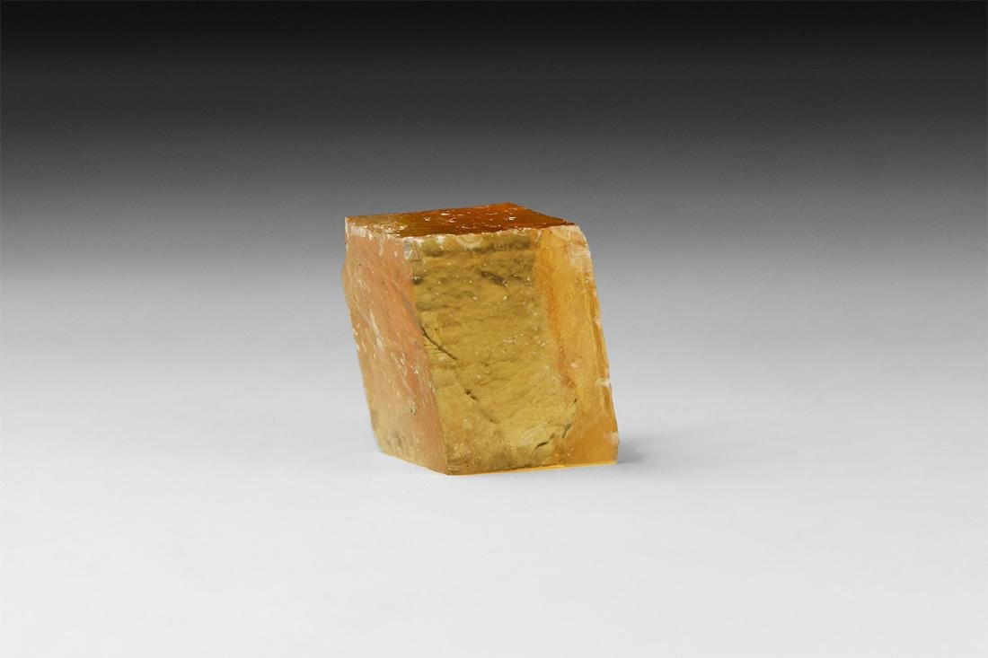 Orange Calcite Mineral Specimen.