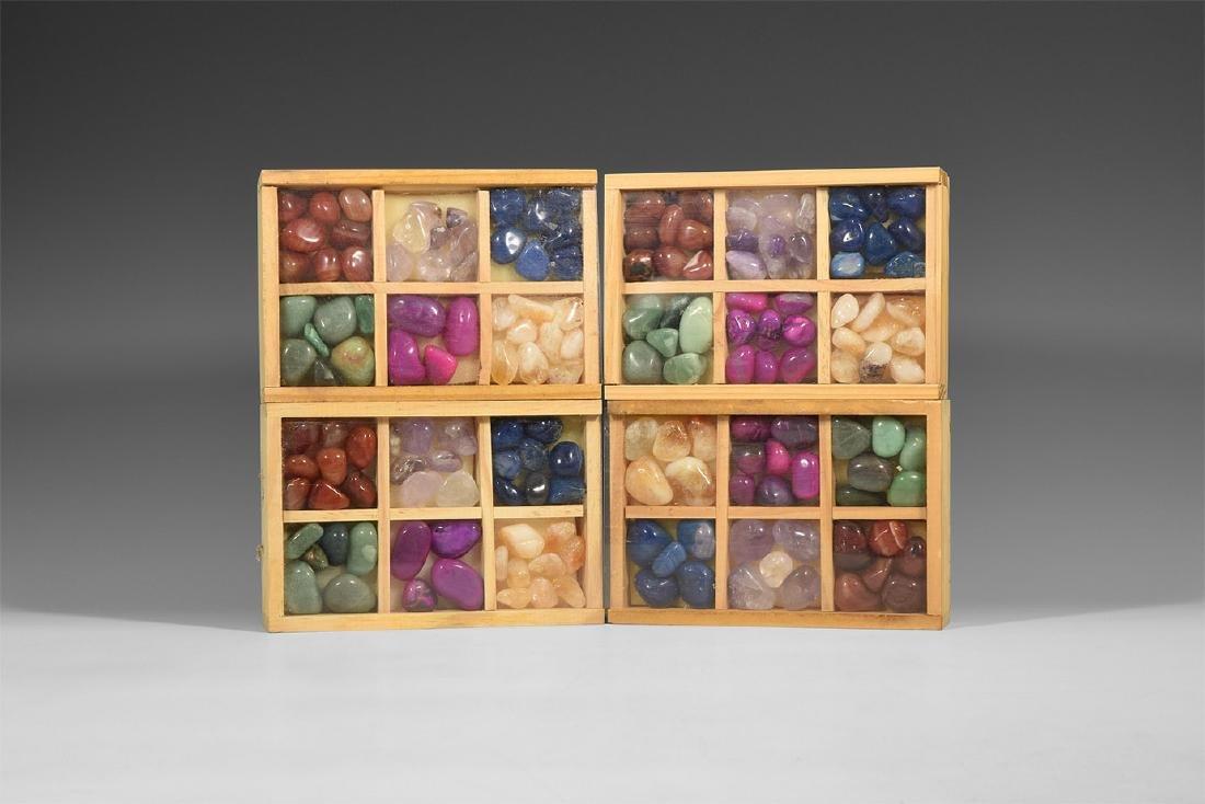 Boxed Mineral Specimen Group.