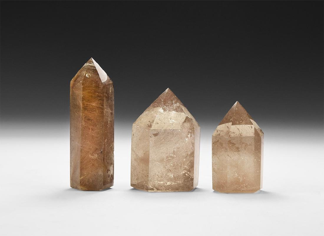 Smoky Quartz Specimen Group.