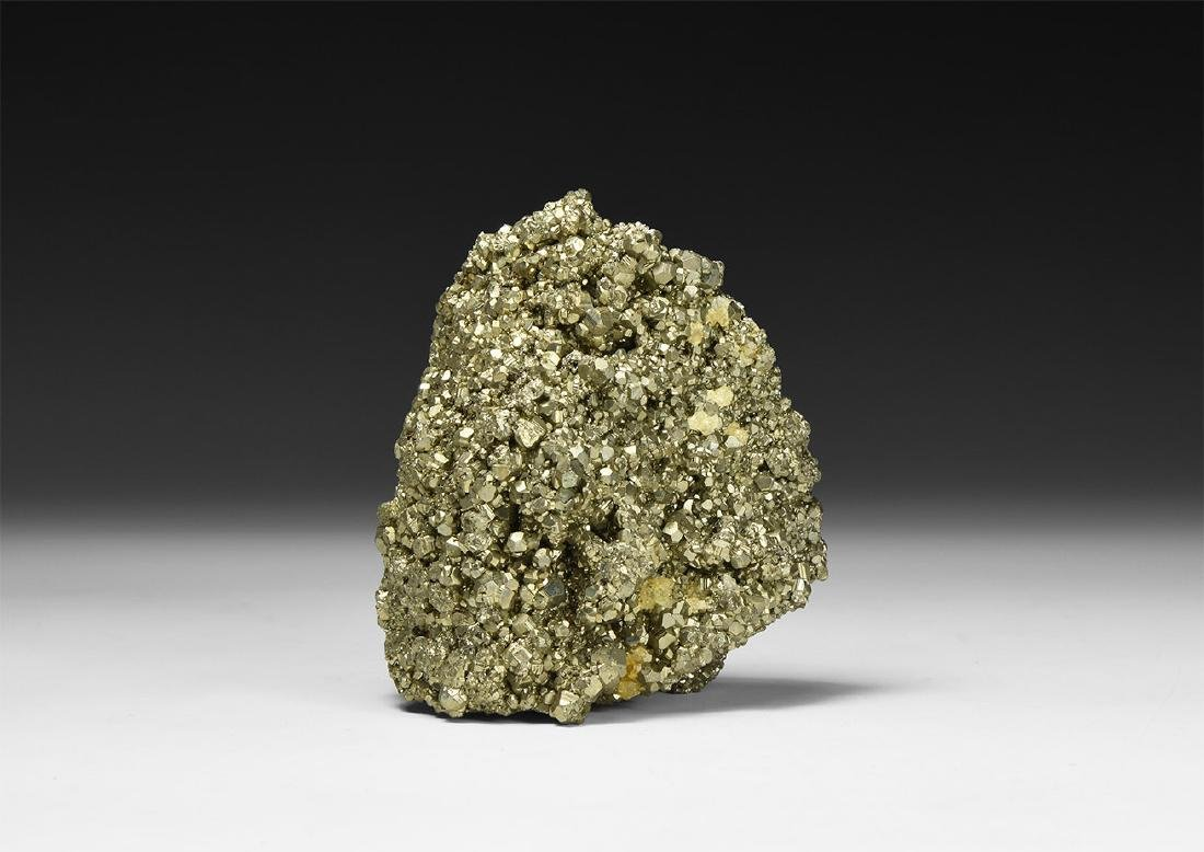 Large Pyrite Mineral Cluster.