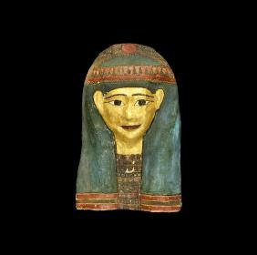 Egyptian Gilt Cartonnage Mask