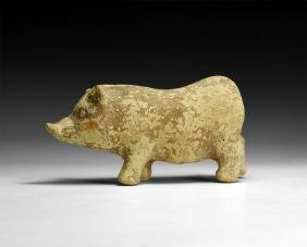 Graeco-Italian Toy Rattle in the Form of a Pig
