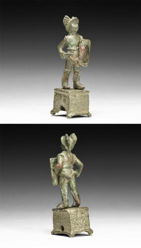Roman Samnite Gladiator Statuette