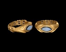 Roman Gold Ring with Nicolo