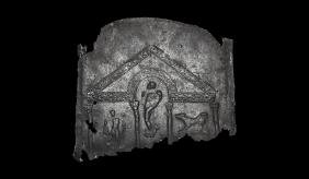 Roman Panel with Pluto and Charon in Temple
