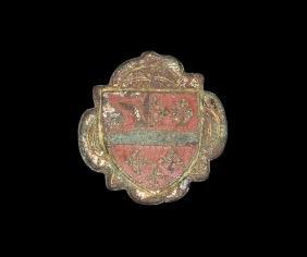 Medieval Gilt Howard Family Heraldic Harness Inlay