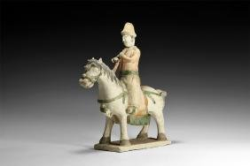 Chinese Ming Horse and Rider