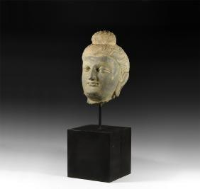 Gandharan Over Life-Size Head of Buddha
