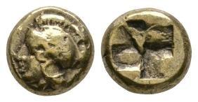 Phokaia - Ionia - Civic - Athena Electrum Gold Hekte
