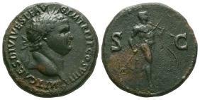 Roman Imperial Coins - Vespasian - Mars Sestertius