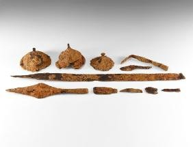 Anglo-Saxon Warrior Burial Group with Sword