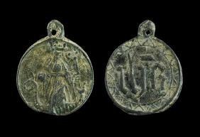 Medieval Medallion with Saint Margaret