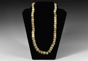 Natural History - Mammoth Bone Bead Necklace